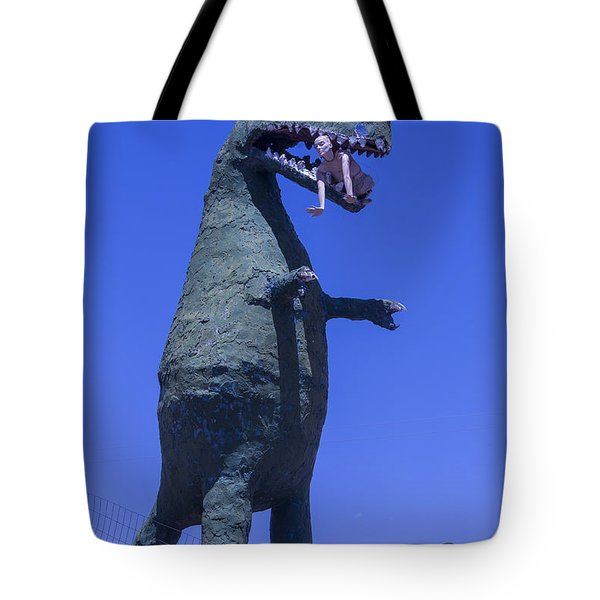 Hungry Dinosaur Tote Bag
