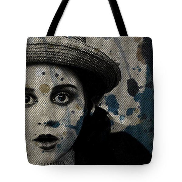 Tote Bag featuring the mixed media Hungry Eyes by Paul Lovering