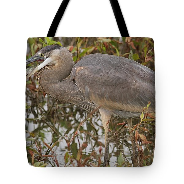 Hungry Heron Tote Bag