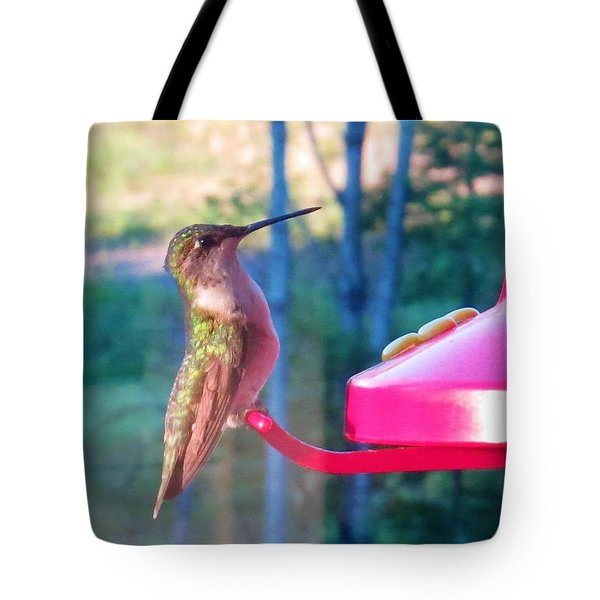 Tote Bag featuring the photograph Hungry Hummer by Jeanette Oberholtzer