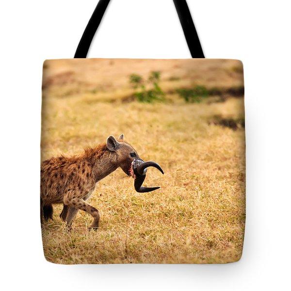 Hungry Hyena Tote Bag by Adam Romanowicz