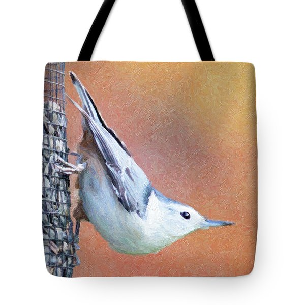 Hungry Nuthatch Tote Bag