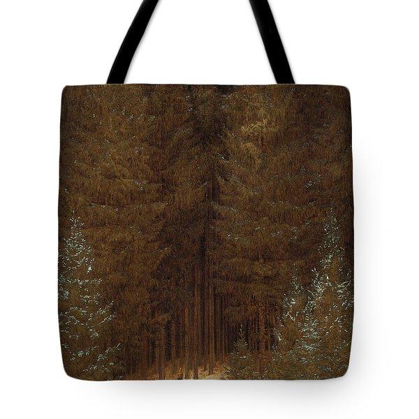 Hunter In The Forest  Tote Bag by Caspar David Friedrich