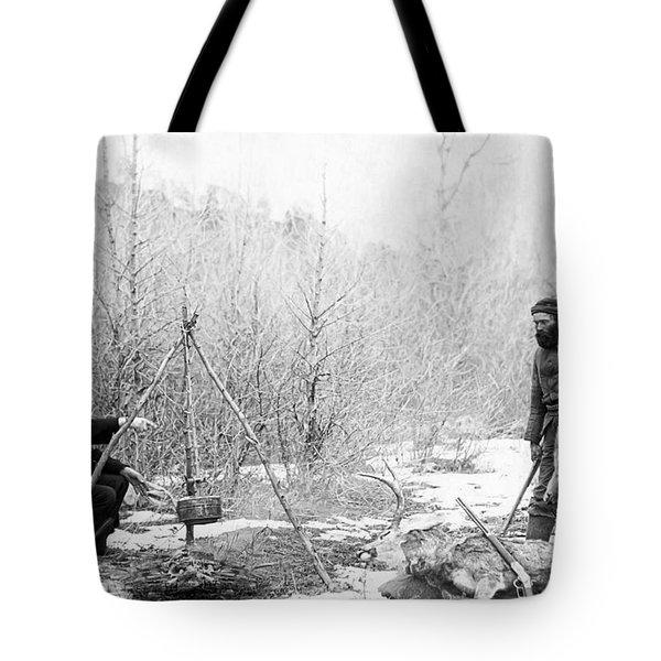 Hunting Camp Winter 1887-88 -- South Dakota Tote Bag