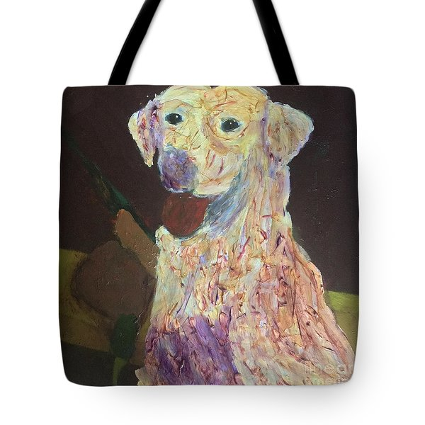 Tote Bag featuring the painting Hunting Dog by Donald J Ryker III