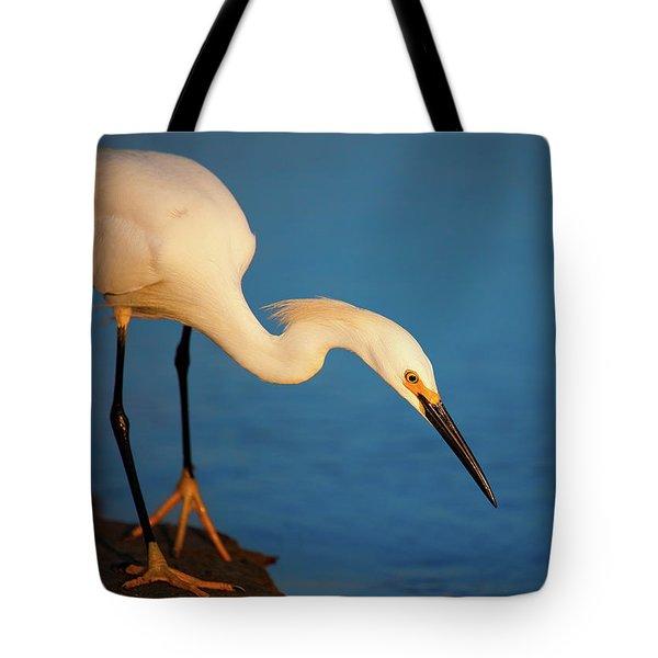 Hunting Egret Tote Bag