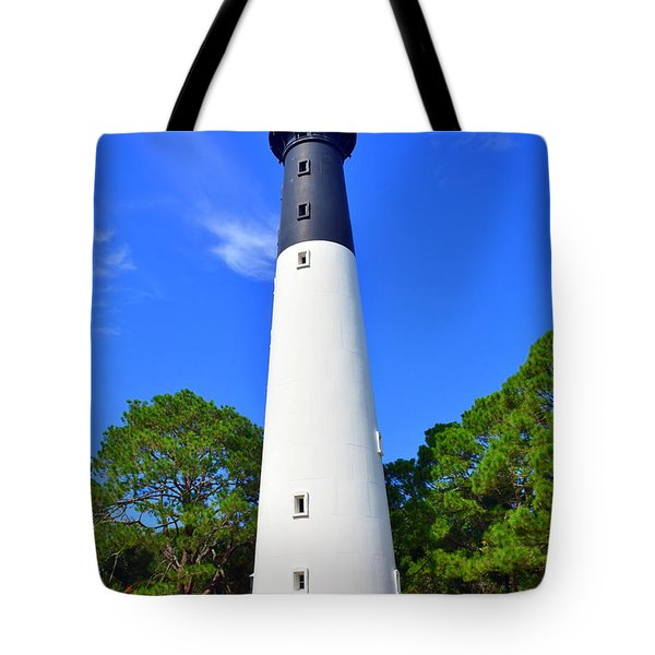 Tote Bag featuring the photograph Hunting Island Lighthouse Beaufort Sc by Lisa Wooten