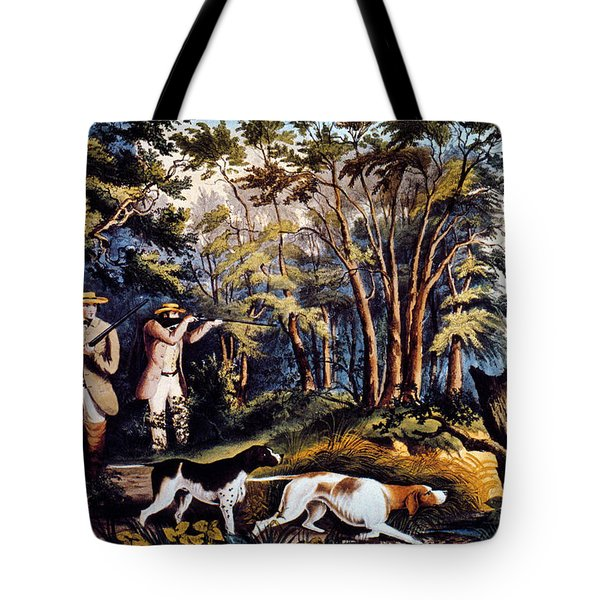 Hunting: Woodcock, 1852 Tote Bag
