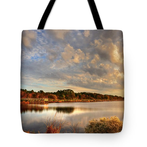 Huntington Beach At Dusk Tote Bag