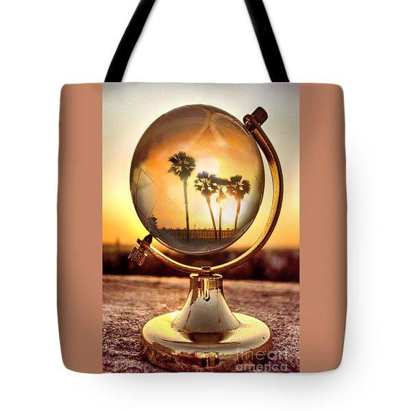 Huntington Beach Globe Tote Bag