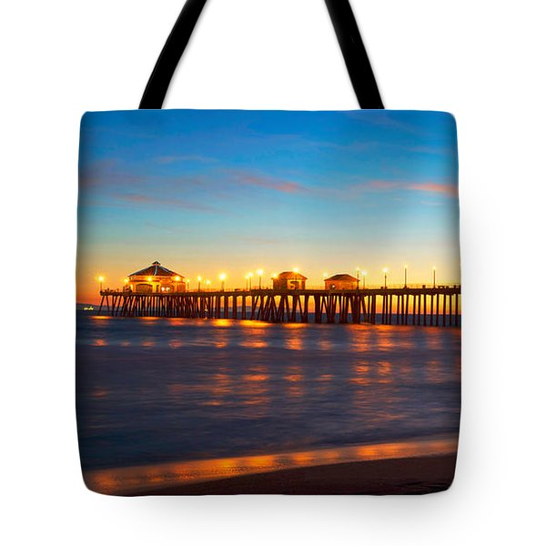 Huntington Beach Pier - Twilight Tote Bag