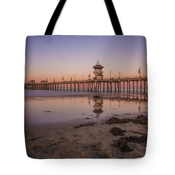 Tote Bag featuring the photograph Huntington Beach Pier by Sean Foster