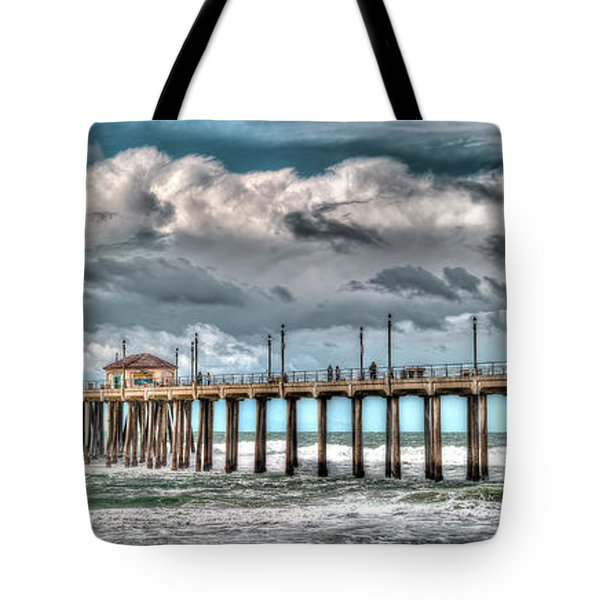 Tote Bag featuring the photograph Huntington Beach Winter 2017 by Jim Carrell