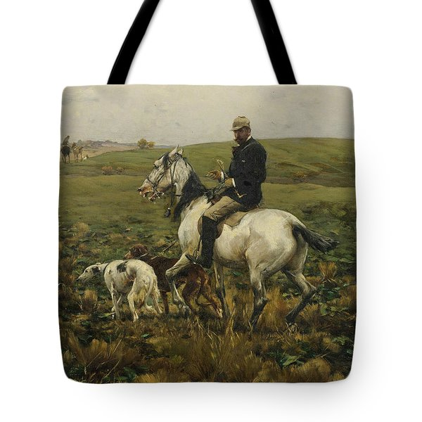 Huntsman With Hounds Tote Bag