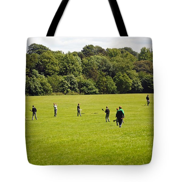 Hurling Practice Tote Bag by Cindy Murphy - NightVisions