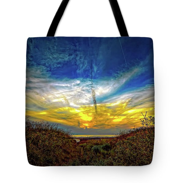 Huron Evening 2 Tote Bag by Steve Harrington