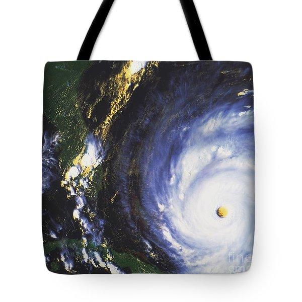 Hurricane Floyd Tote Bag by NASA / Science Source