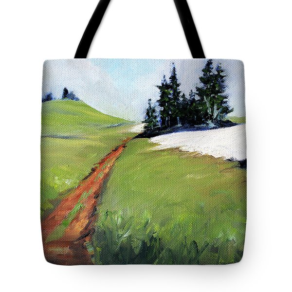 Tote Bag featuring the painting Hurricane Hill by Nancy Merkle
