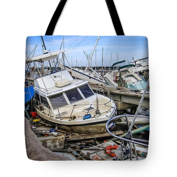 Tote Bag featuring the photograph Hurricane Katrina Damage by Gregory Daley  PPSA