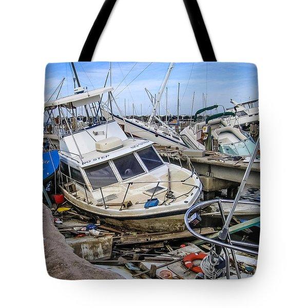 Hurricane Katrina Damage Tote Bag