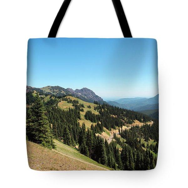 Tote Bag featuring the photograph Hurricane Ridge View II by Sharon Seaward