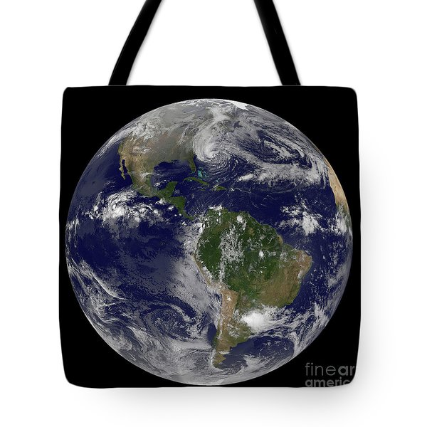 Hurricane Sandy Along The East Coast Tote Bag by Stocktrek Images