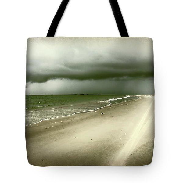 Hurricane Storm Ocracoke Island Outer Banks Tote Bag