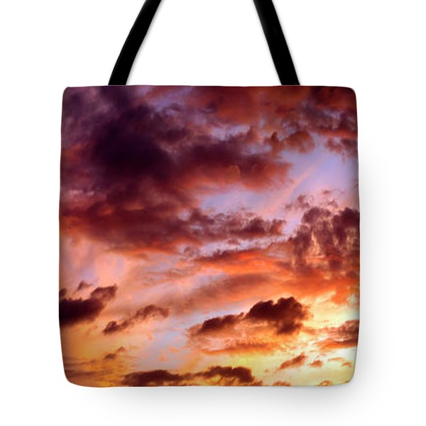 Hurricane Sunset Tote Bag