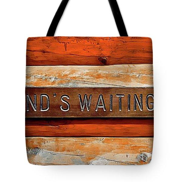 Husband's Waiting Bench - Denali National Park Tote Bag by Joseph Hendrix