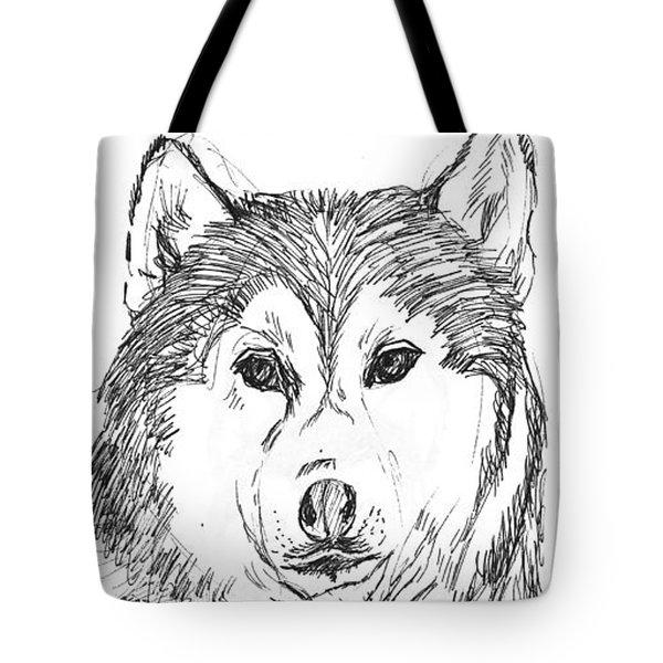 Husky Tote Bag by Charme Curtin