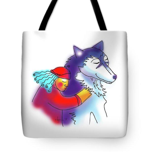 Husky Love Tote Bag