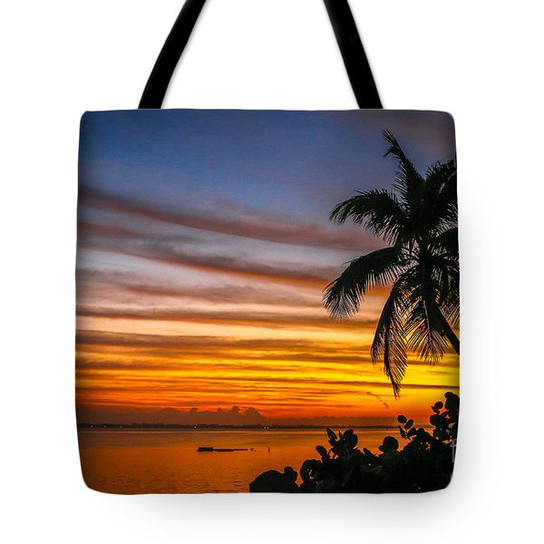 Tote Bag featuring the photograph Hutchinson Island Sunrise #1 by Tom Claud