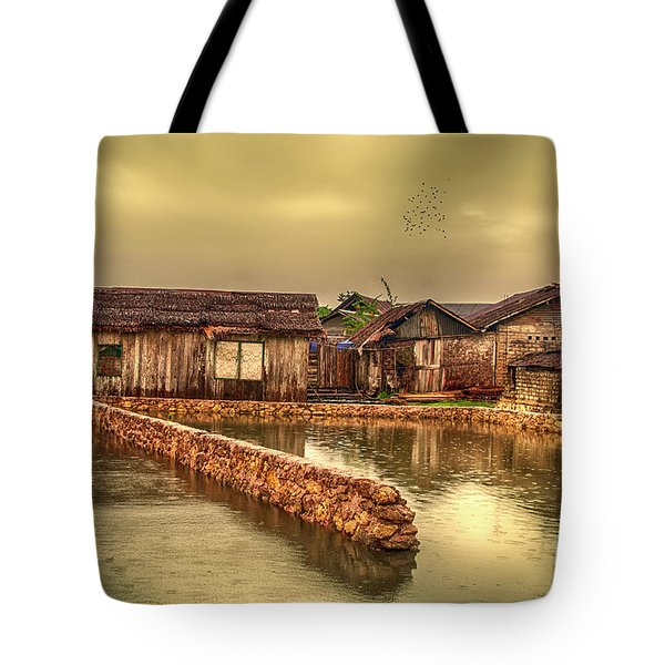Tote Bag featuring the photograph Huts 2 by Charuhas Images