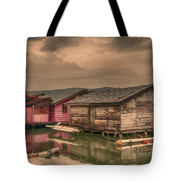 Tote Bag featuring the photograph Huts In South Sulawesi by Charuhas Images