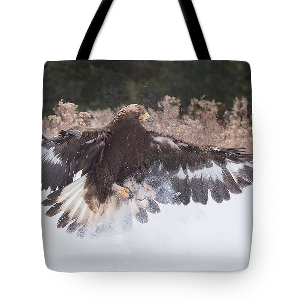 Hunting In The Snow Tote Bag