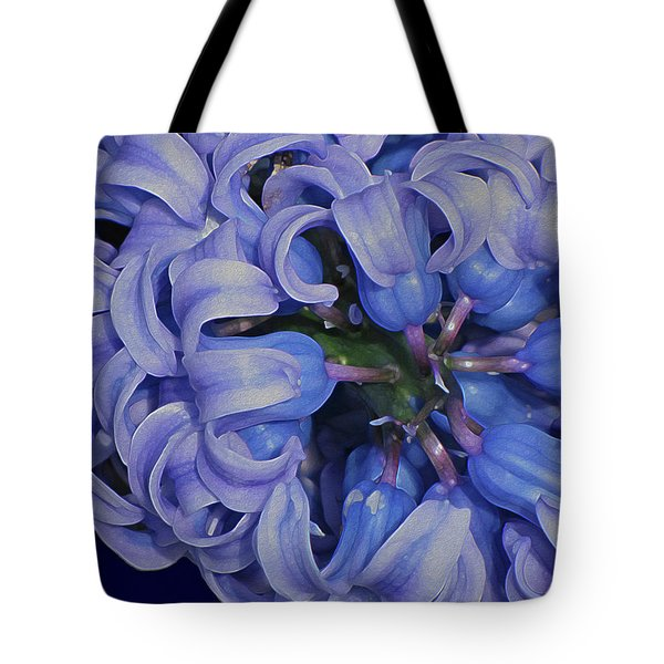 Hyacinth Curls Tote Bag