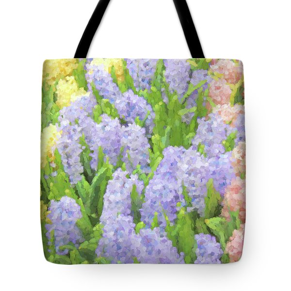 Tote Bag featuring the photograph Hyacinth Flowers In The Spring Garden by Jennie Marie Schell