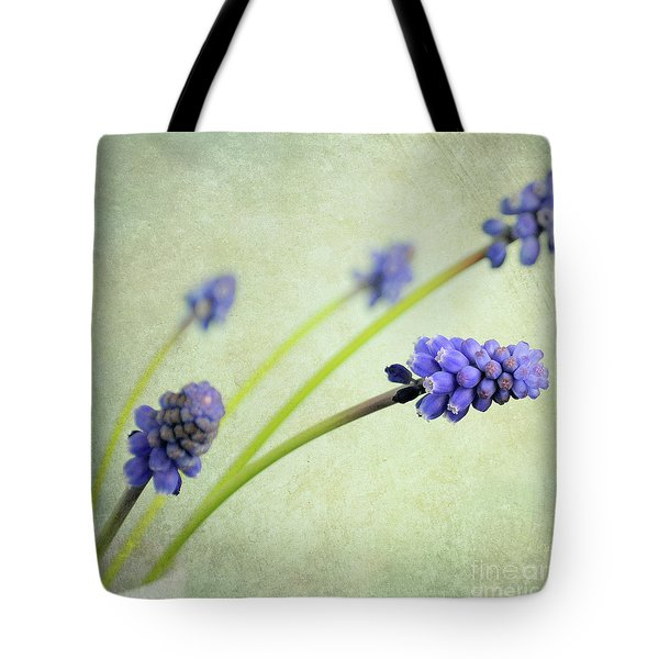 Hyacinth Grape Tote Bag by Lyn Randle
