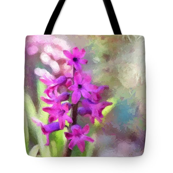 Hyacinth Tote Bag by Louise Lavallee