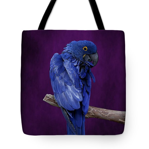 Hyacinth Macaw Panoramic Tote Bag