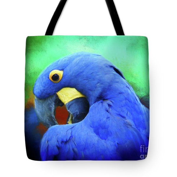 Hyacinth Mcaw Tote Bag by Suzanne Handel
