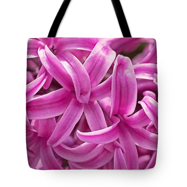Tote Bag featuring the photograph Hyacinth Pink Pearl by Rona Black