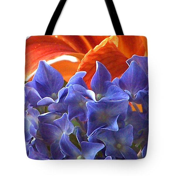 Hyacinth With Flames Tote Bag