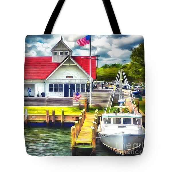 Hyannis The Coastguard Tote Bag by Jack Torcello
