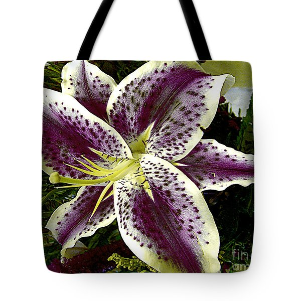 Tote Bag featuring the photograph Hybrid Garden Lily by Merton Allen