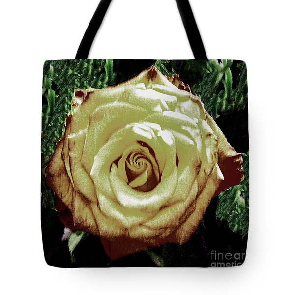 Tote Bag featuring the photograph Hybrid Rose by Merton Allen