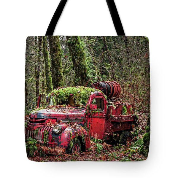 Hybrid Fire Truck Tote Bag