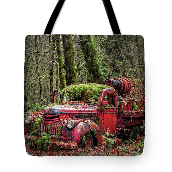 Hybrid Fire Truck Tote Bag