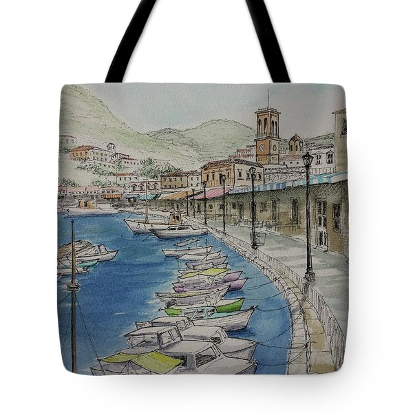 Hydra Clock Tower Tote Bag