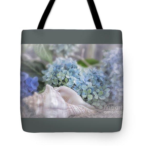 Hydrangeas By The Sea Tote Bag by Mary Lou Chmura